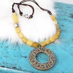 Silpada N1837 Serpentine 925 Leather Necklace
